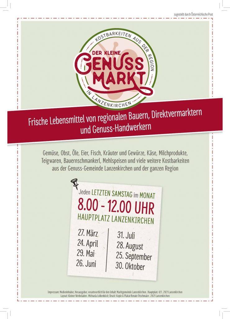 der kleine Genussmarkt in Lanzenkirchen